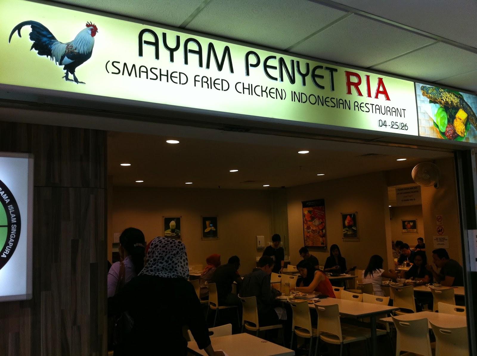 foodiefc ayam penyet ria lucky plaza