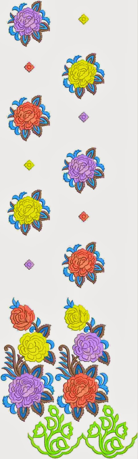 inheemse Amerikaanse borduurwerk Kurti rok