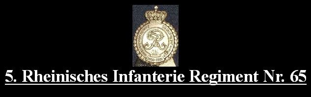 5. Rheinisches Infanterie Regiment Nr. 65