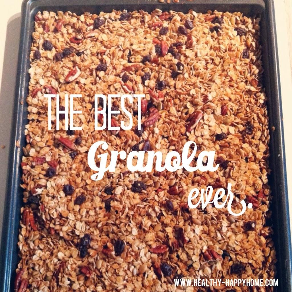 Healthy Happy Home: Healthy Granola Recipe