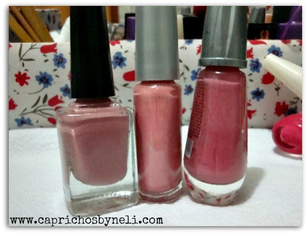 Esmalte cor de rosa