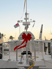 A bow on the bow and a few palm trees in the background. Merry Christmas!