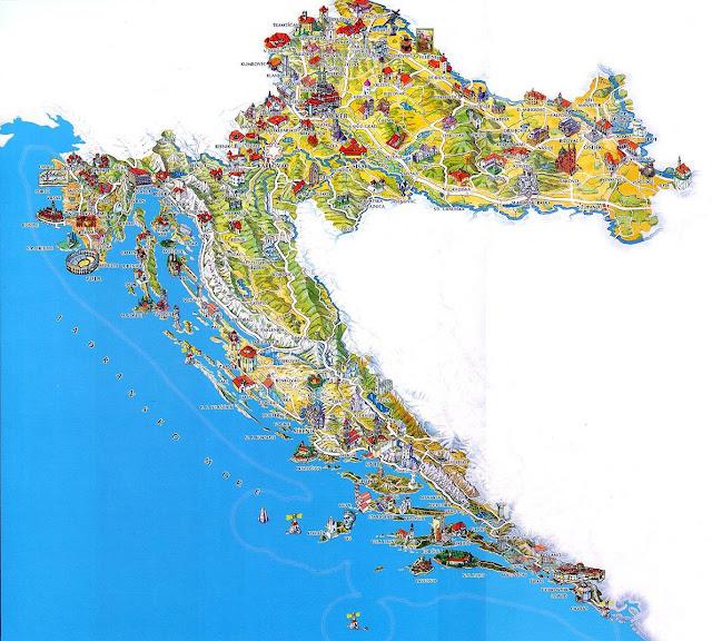 Хорватия туры карта