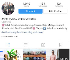 Instagram @dzulhazdesign_tailor
