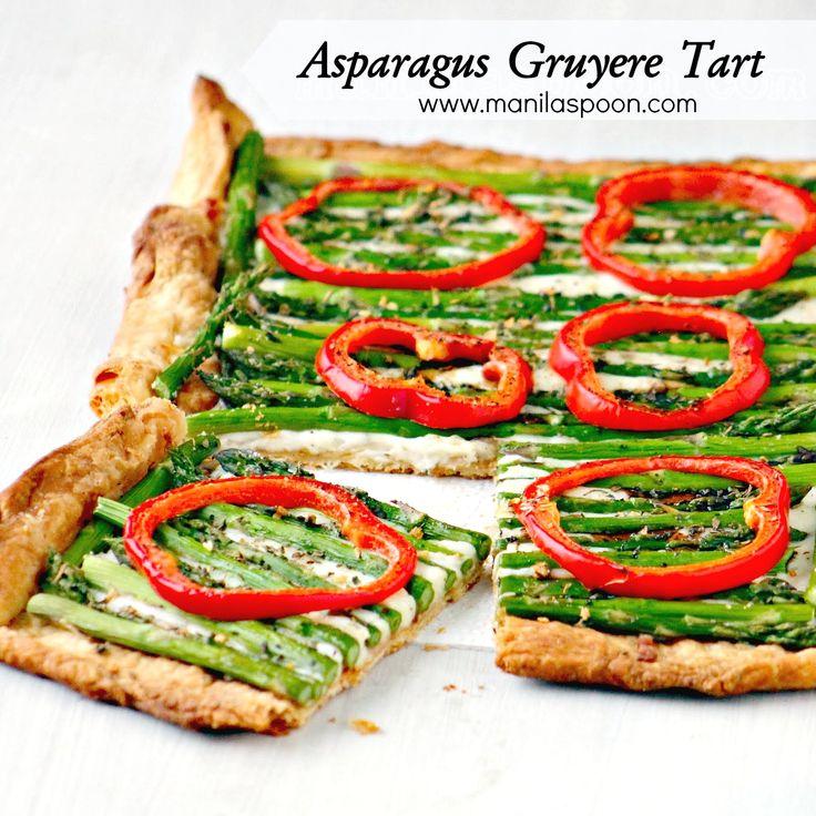 ... as it's so gooood!!! #asparagus #gruyere #tart #dinner #easy #recipe