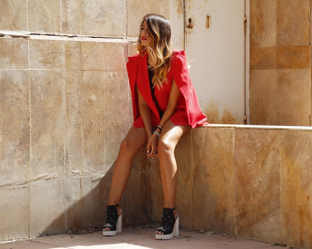 Steve madden zapatos rocio osorno blog moda ootd sevilla diseñadora rocioosorno blazer roja chaqueta instablogger