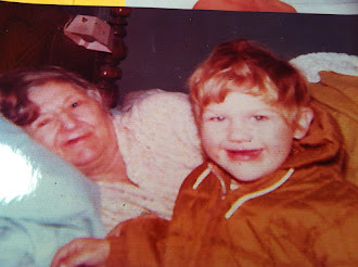 Tommy and his great-Grandma Alma