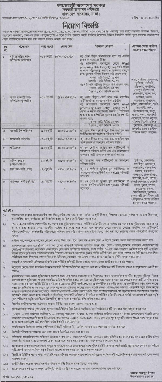 বাংলাদেশ সচিবালয়  নিয়োগ বিজ্ঞপ্তি _Bangladesh Secretariat Recruitment