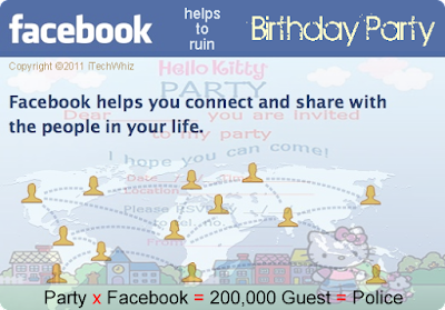 200000 Facebook Invitees to Australian Schoolgirl Birthday Party