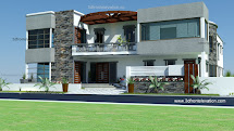 3d Front 700 Yards House Plan