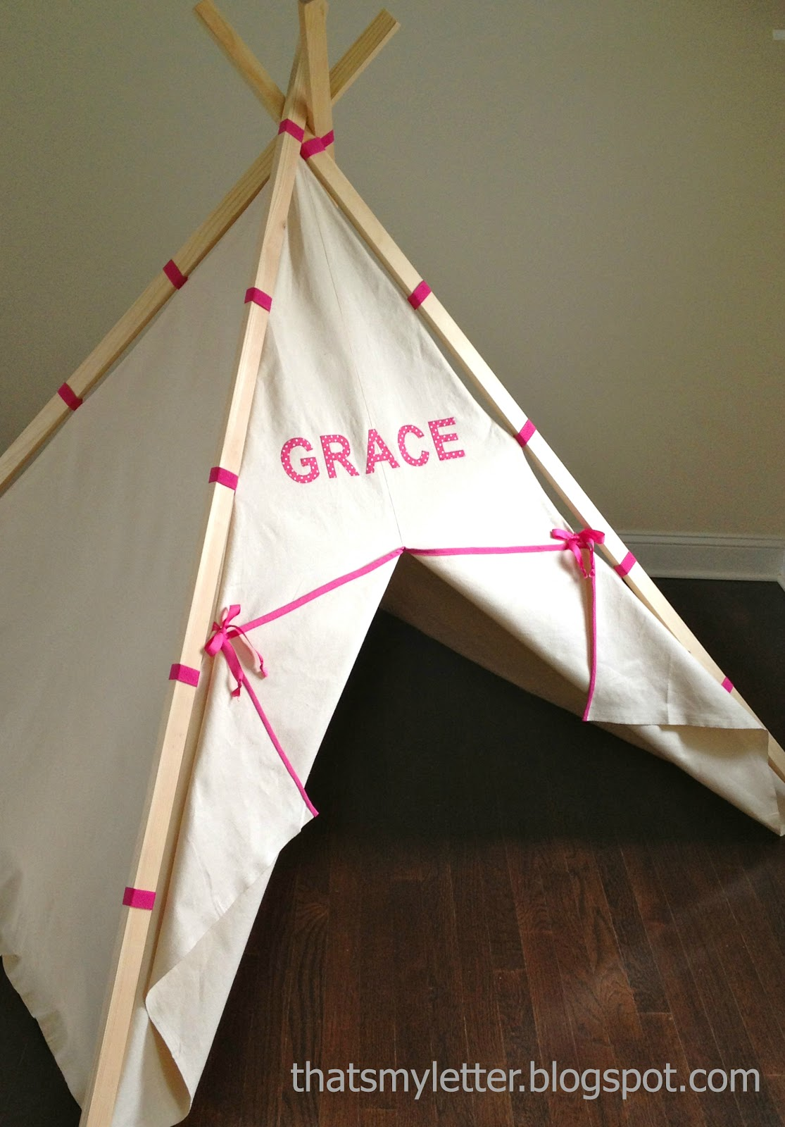 That 39 S My Letter Diy Kids Play Teepee