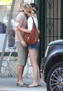 Emily VanCamp and Josh Bowman Share a Kiss after brunch