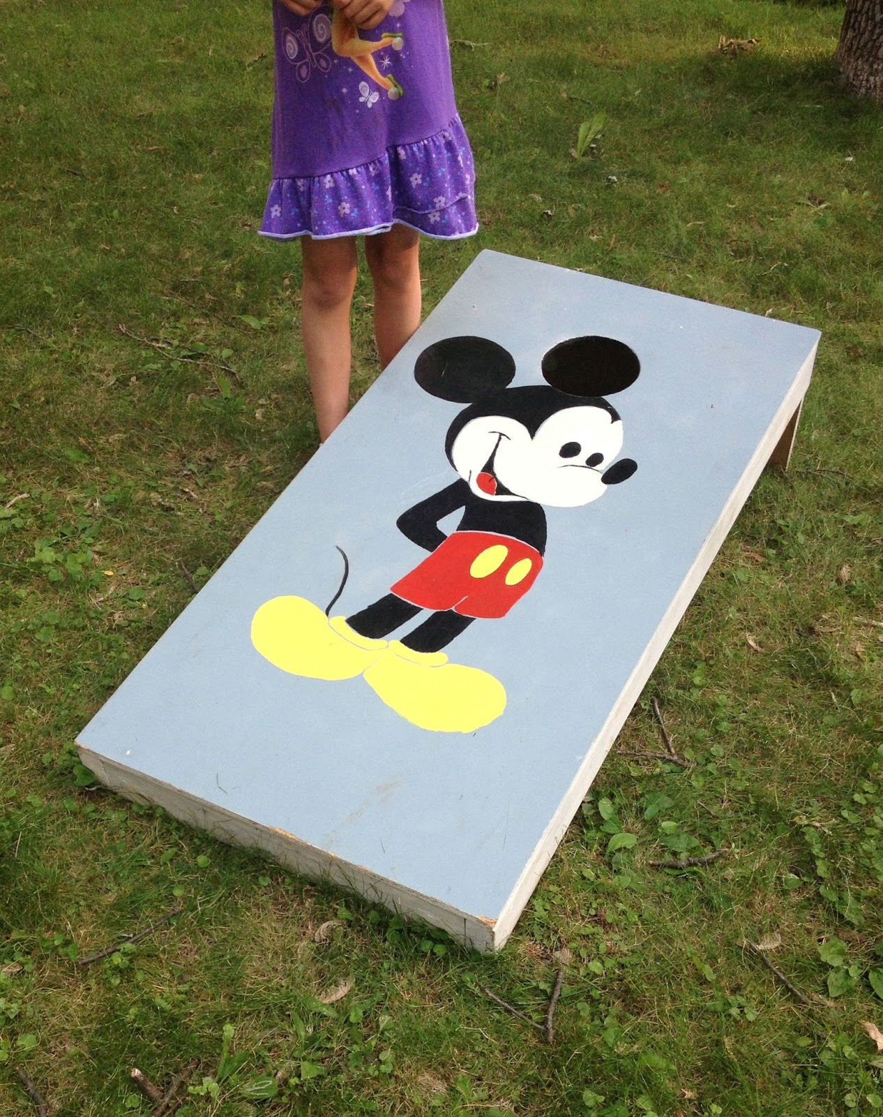 diy lawn game cornhole or mousehole - Cornhole Design Ideas