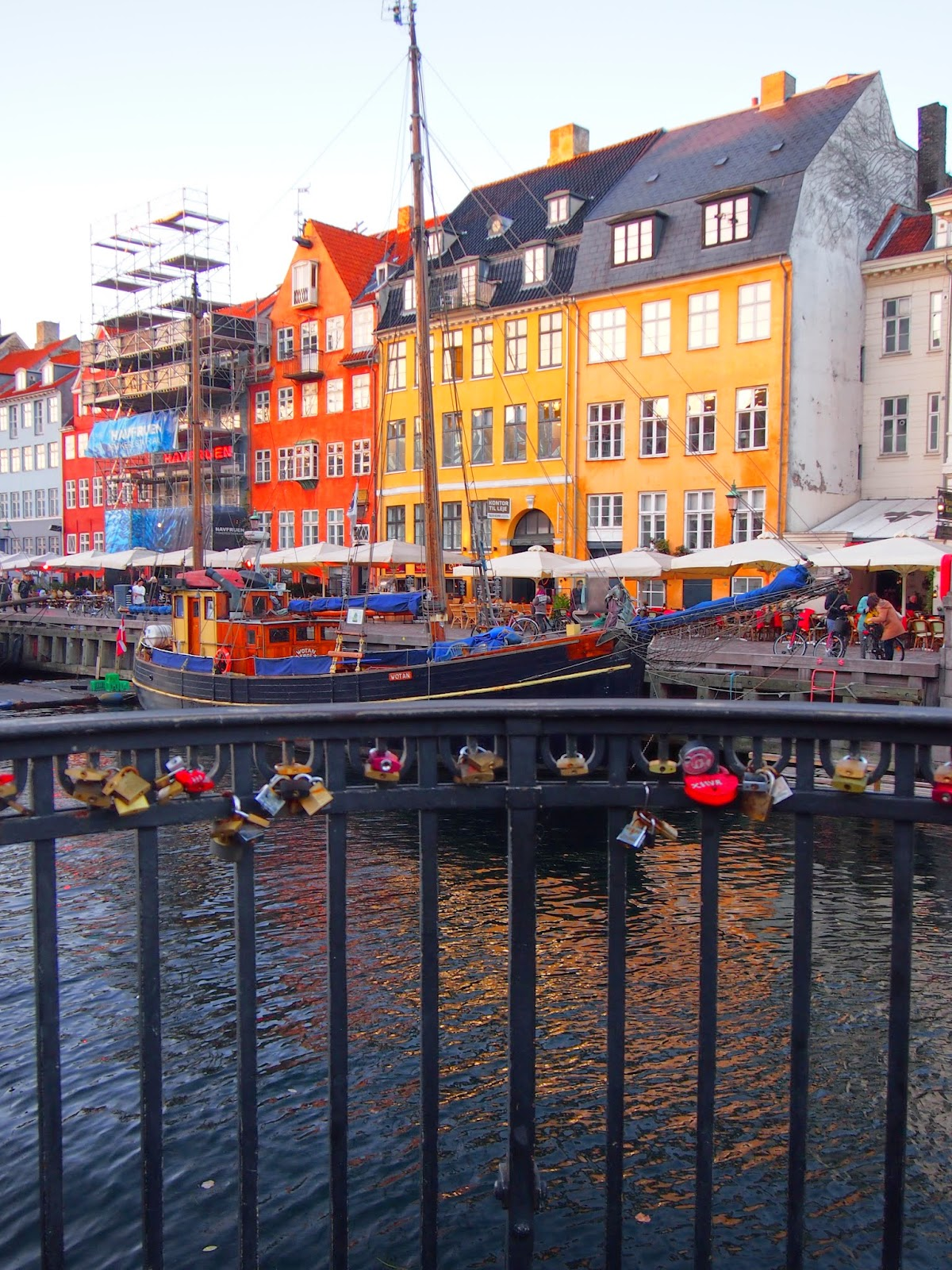 Love locks at Nyhavn