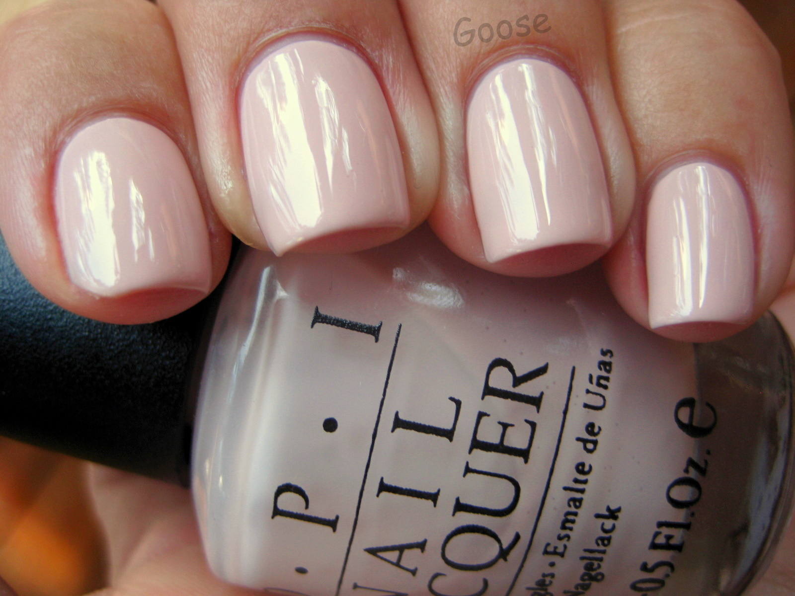 Gooses Glitter OPI Let Them Eat Rice Cake Swatch