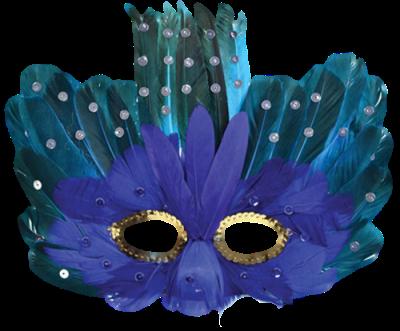 Máscara Carnaval PNG - Misteriósa Blue 3