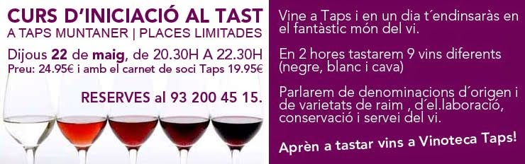 tast de vins a Taps