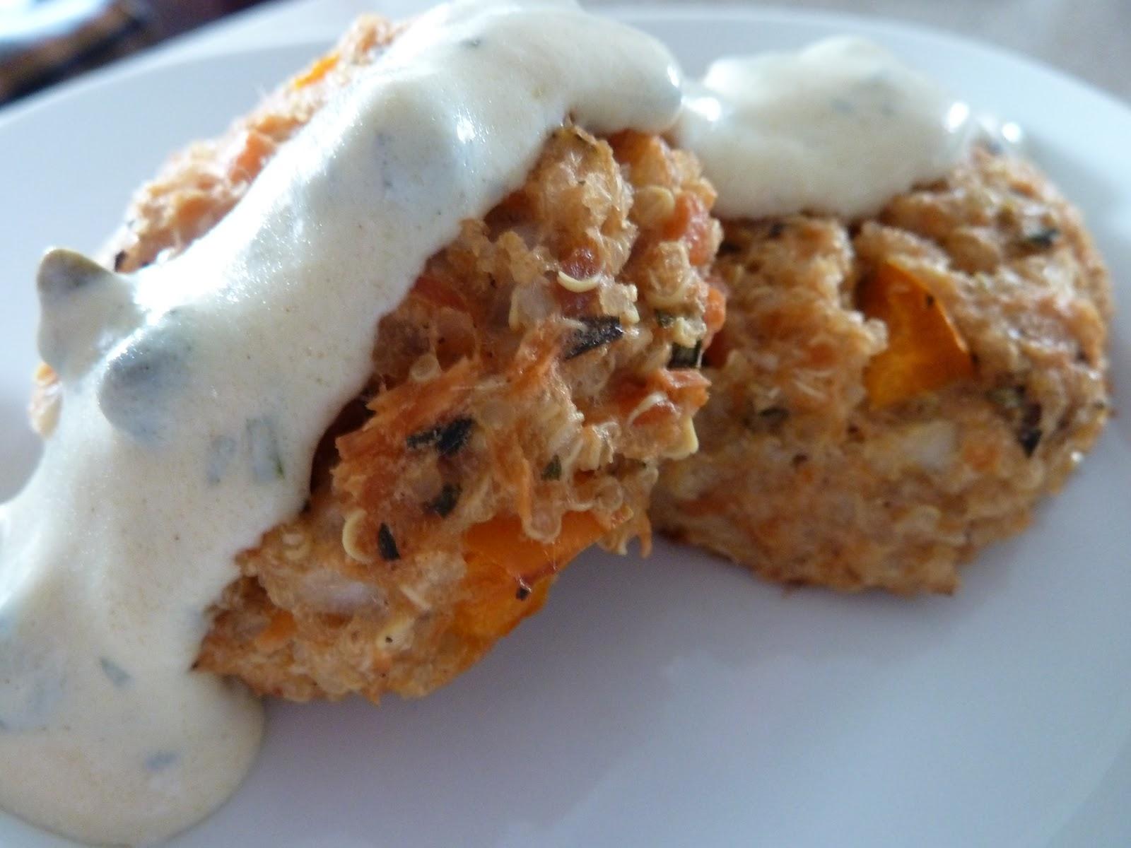 Salmon Quinoa Cakes With Tarragon Mustard Sauce | Kindred Kitchen