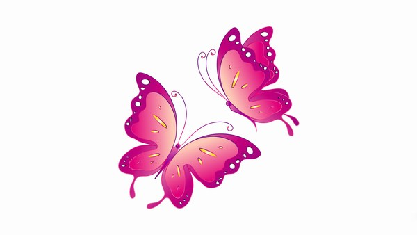 Butterfly Pink Wallpaper Download