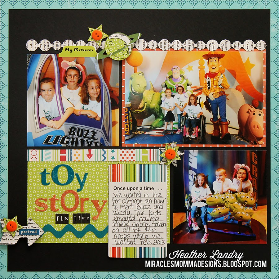 Toy Story_Characters_Buzz_Disney Scrapbook Pages