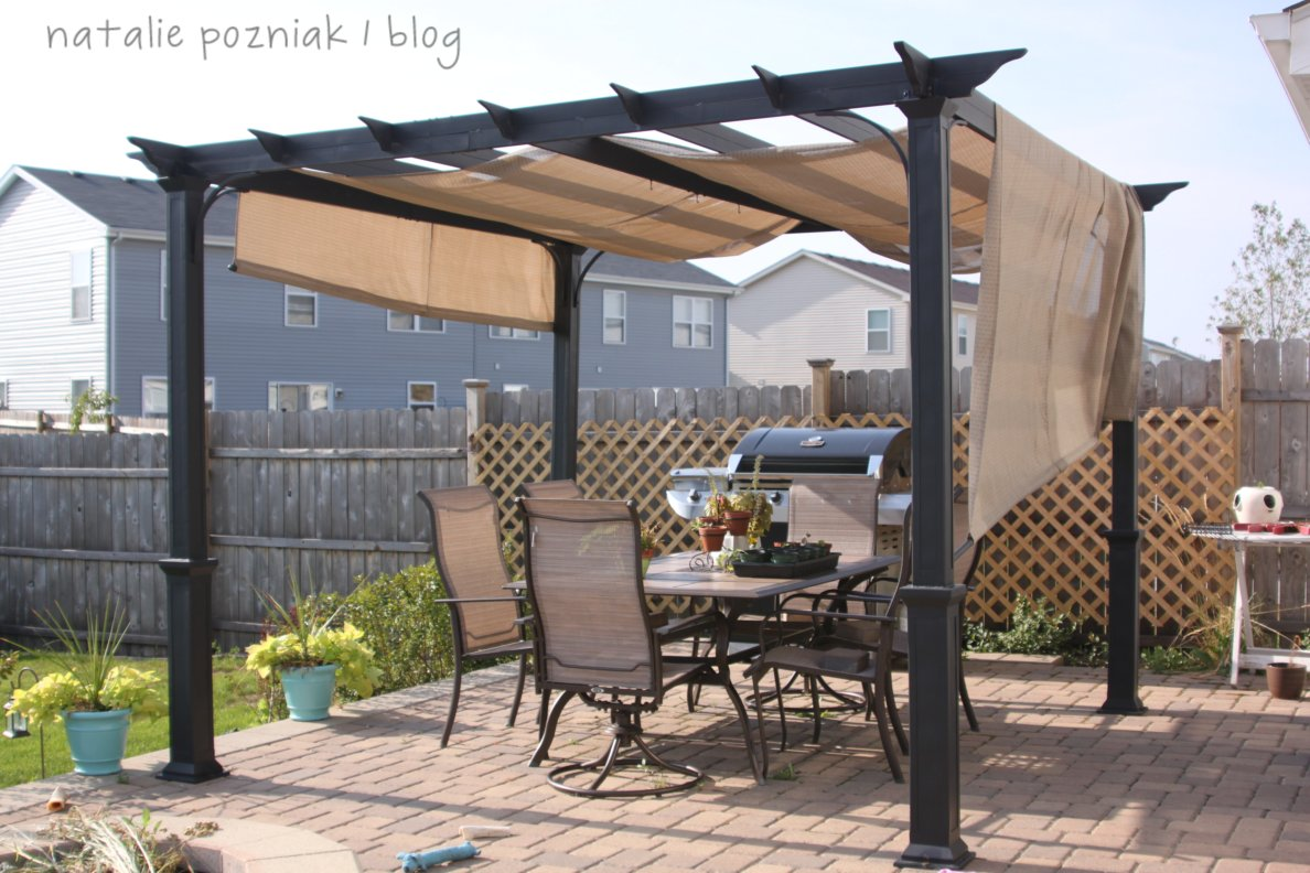 Backyard pergola canopy various design inspiration for backyard - Waterdichte pergola cover ...
