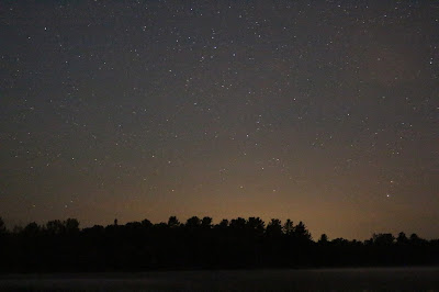 Tons of stars over the lake
