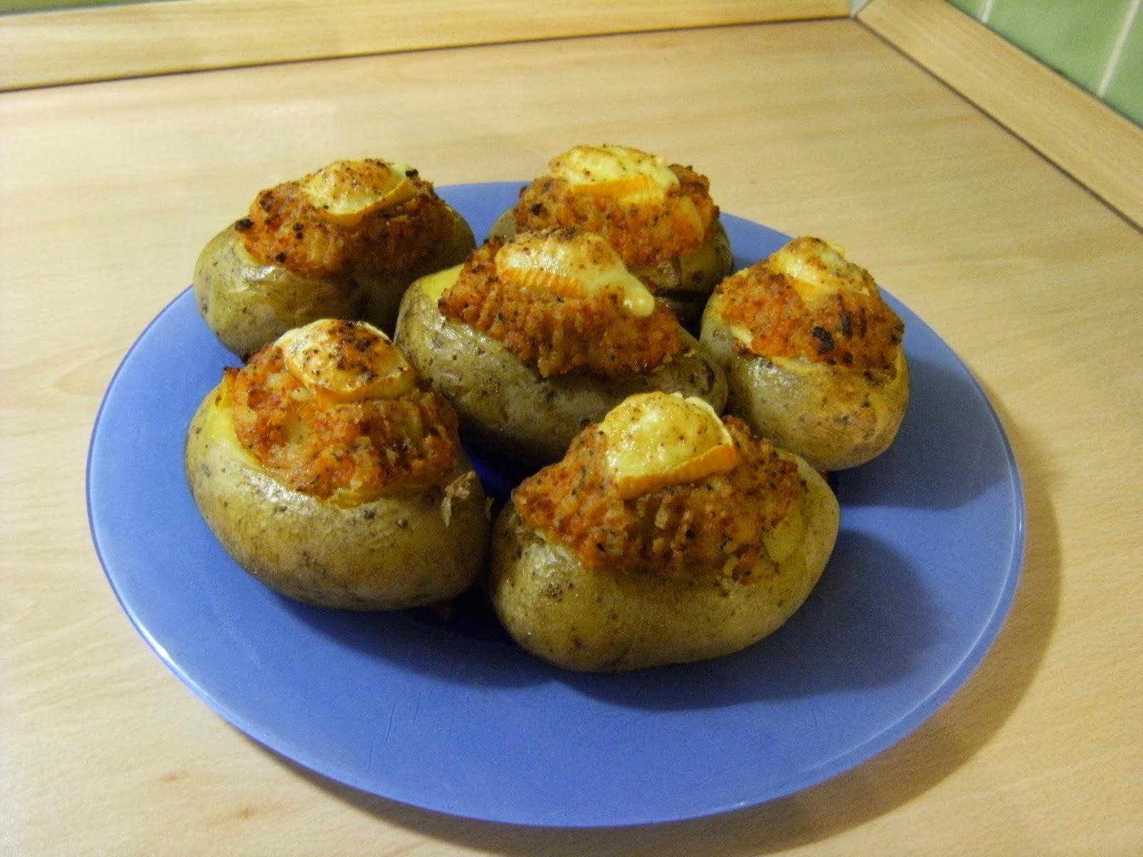 Labonnecuisinedenath pommes de terre au beurre de chorizo et fromage fondu - Pomme de terre au beurre ...