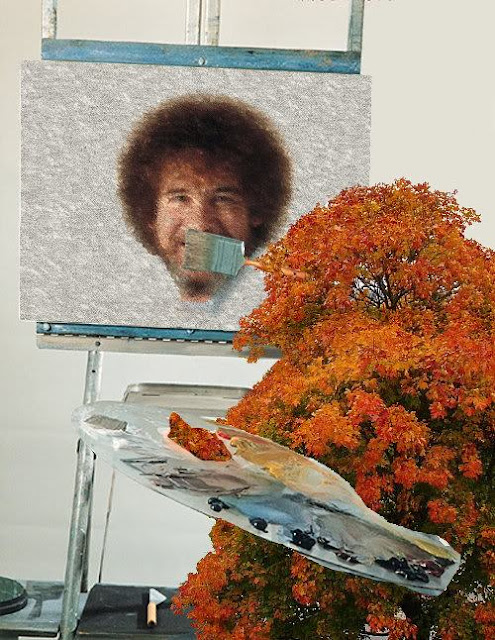 Bob Ross, tree painting