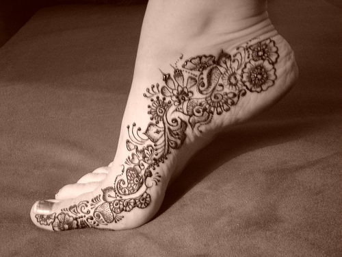 Arabic Mehndi On Feet : Arabic mehndi designs for feet women interest
