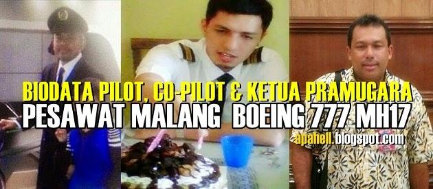 MH17 : Biodata Pilot, Co-Pilot dan Ketua Pramugara (4 Gambar)