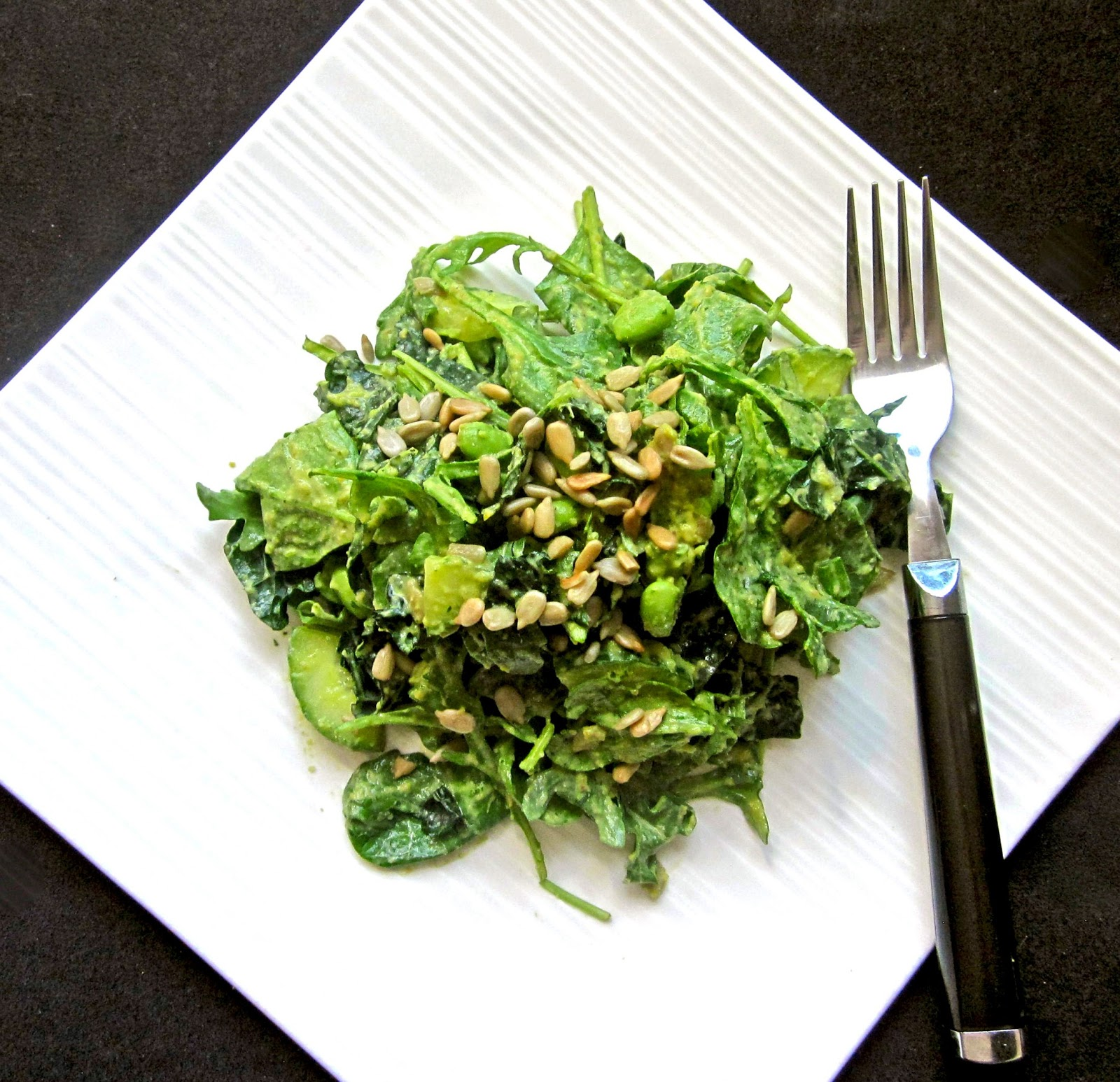 Go Green Salad with Creamy Herb Dressing (Vegan) | The ...