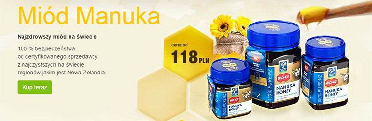Miód Manuka w sklepie Vitamarket.pl