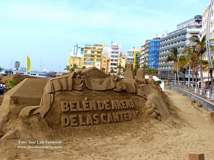 Fotos, vídeo Belén arena 2014 - 2015 Las Canteras, Las Palmas
