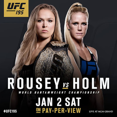 Ronda Rousey vs Holly Holm at UFC 195