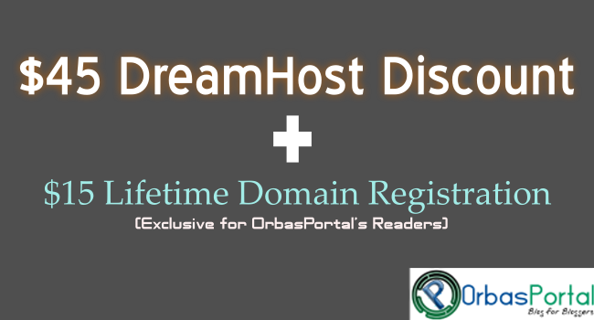 Dreamhost hosting coupon and a lifetime domain registration