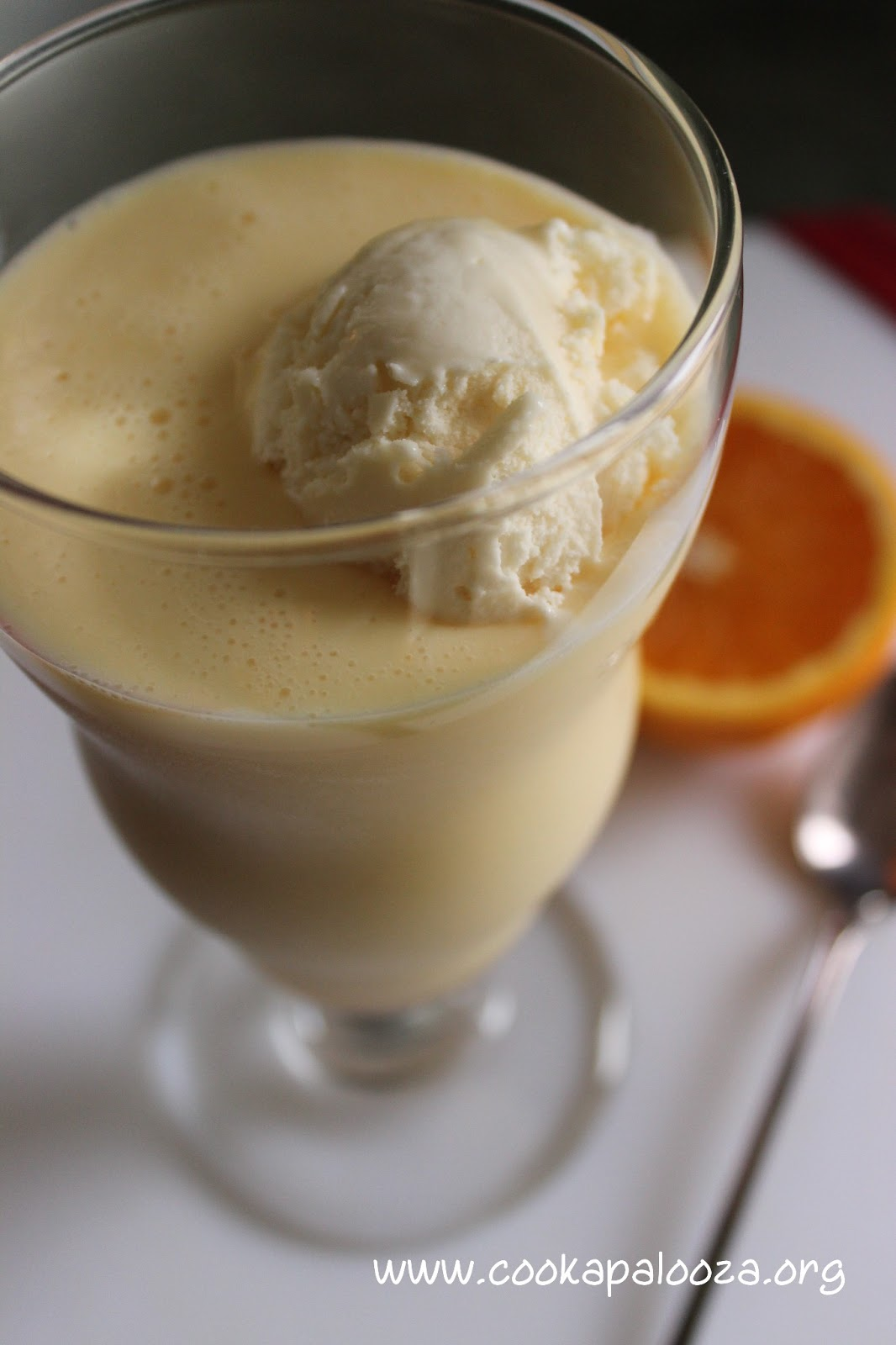 the cook a palooza experience orange creamsicle milkshake