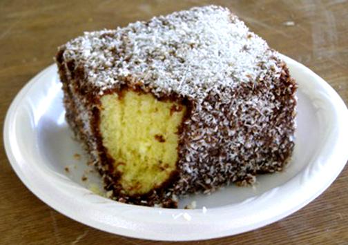 Australian Sponge Cake Covered In Coconut