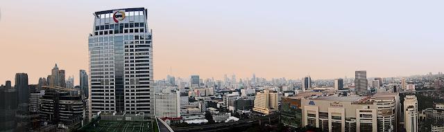 Bangkok skyscraper skyline