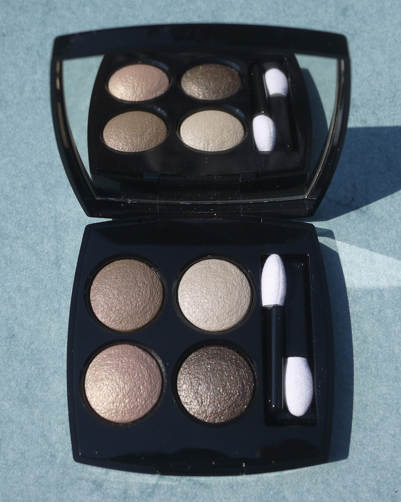 I Took My Photos  Quad And Swatches In Midmorning I Swatched Using A  Spongetipped Applicator And Started With The Taupe In The Upperleft  Corner,