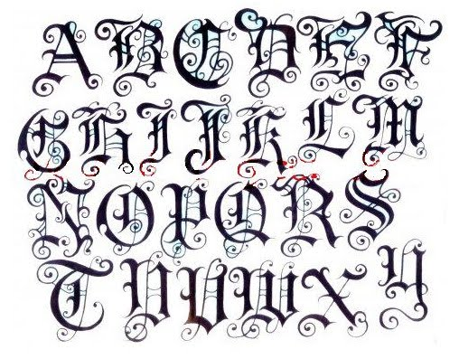 Magnificent Tattoo Fonts Alphabet Letters 508 x 397 · 63 kB · jpeg