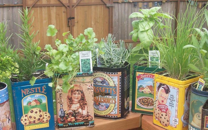 El portal de calixto arte con material reciclado for Reciclaje para jardin