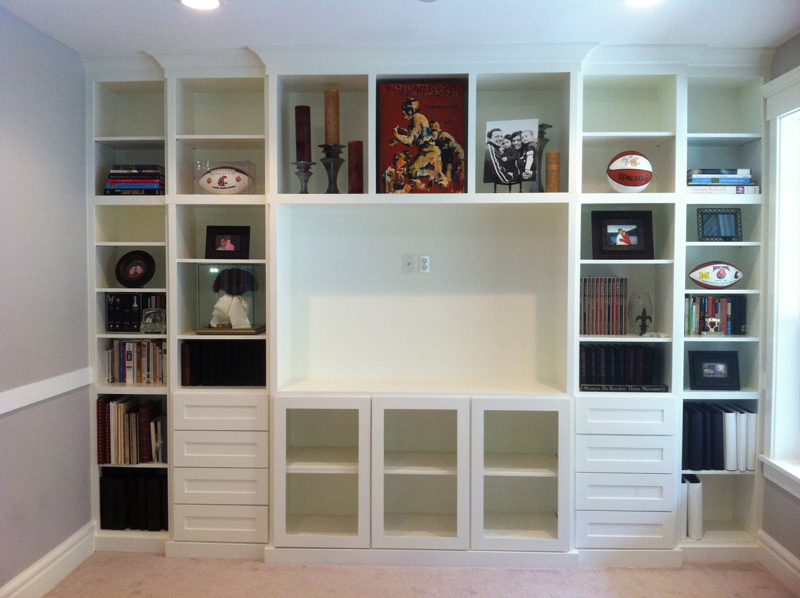 Superb img of In Its Place Organization: Built in Bookcase and a Feature! with #634135 color and 1600x1195 pixels