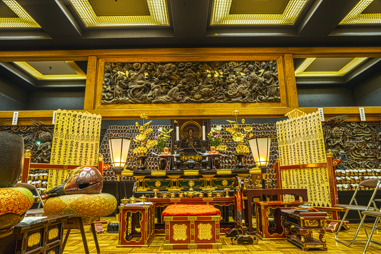 五部権現社殿、千体地蔵堂参拝口内のHDR写真