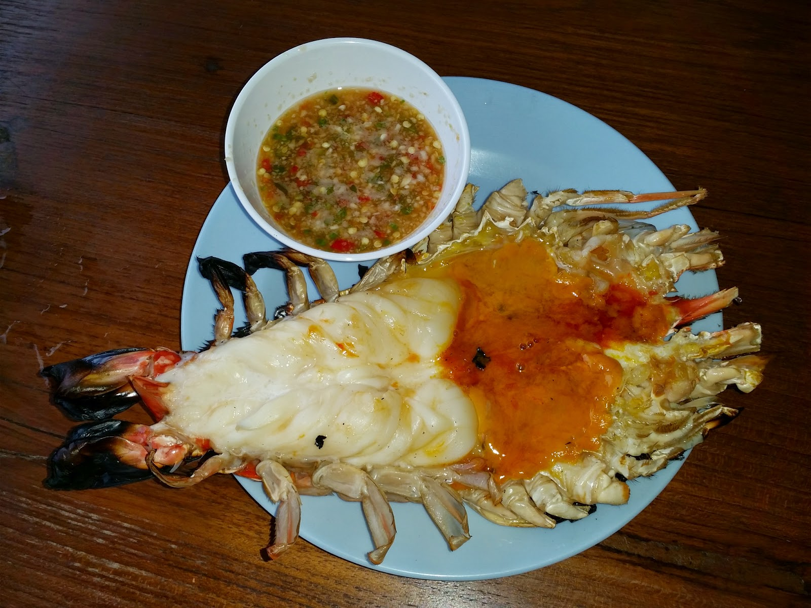 Grilled Tasty River Prawn