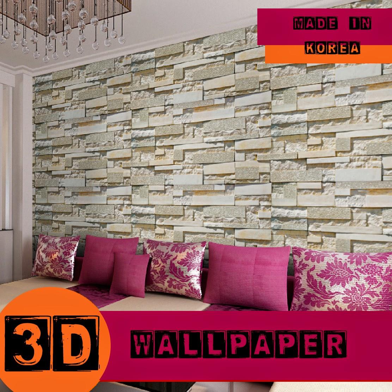 Beli secara murah borong wallpaper 3d korea harga runtuh for Wallpaper home murah