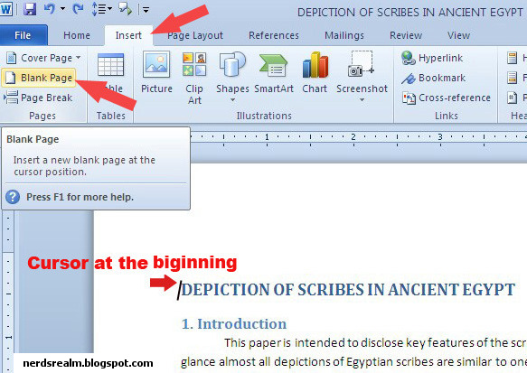 How To Create Table Of Contents In Word 2010 Nerd S Realm