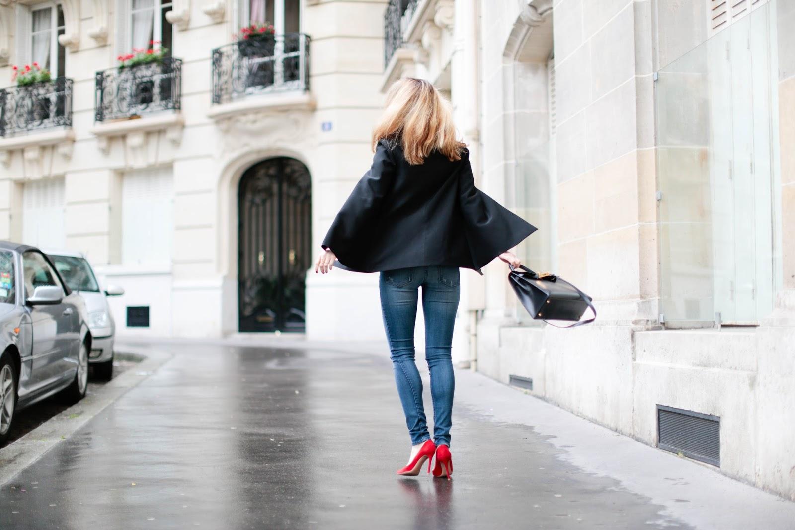 denim on denim, black orchid, topshop, hermès, gianvito rossi, streetstyle, paris, pardon my obsession