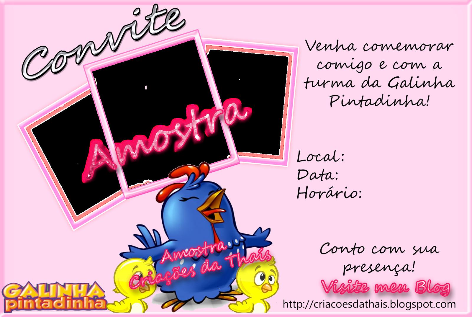 Modelos De Convites Da Galinha Pintadinha