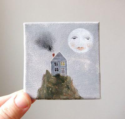 wilderness mini canvas paintings. Black Bedroom Furniture Sets. Home Design Ideas