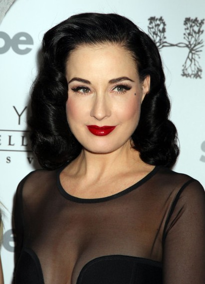 dita von teese hairstyles : HairStyles: The Most Popular Long Hairstyles for 2012